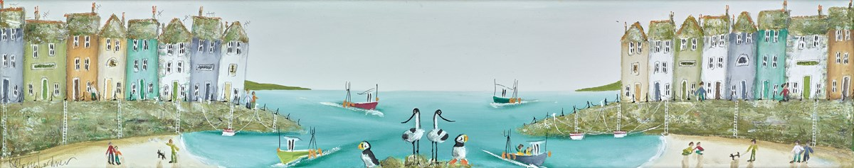Knot a Bite by rebecca lardner -  sized 39x8 inches. Available from Whitewall Galleries